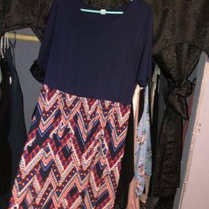 Short sleeve long maxi dress